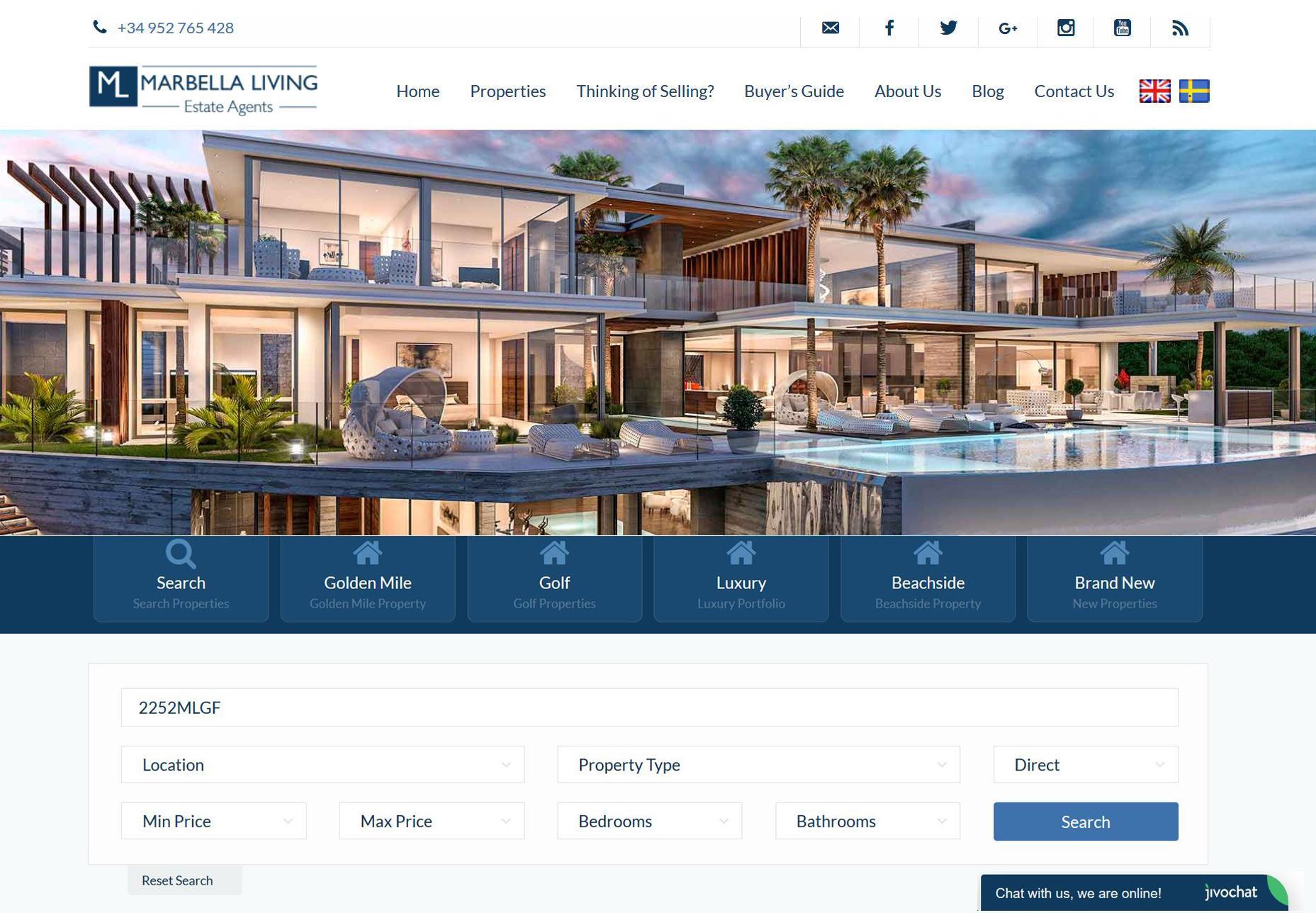 website Marbella Living